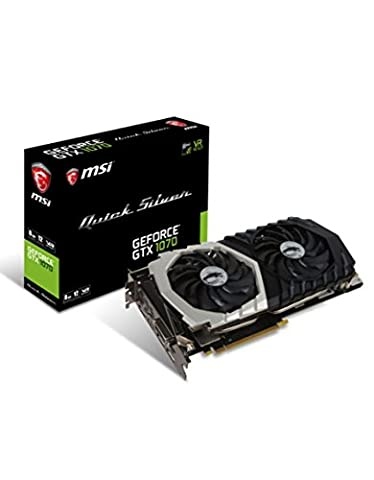 MSI GeForce GTX 1070 Quick Silver OC 8GB Nvidia GDDR5 1x HDMI, 3x DP, 1x DL-DVI-D, 2 Slot Afterburner OC, VR Ready, 4K-optimiert,
