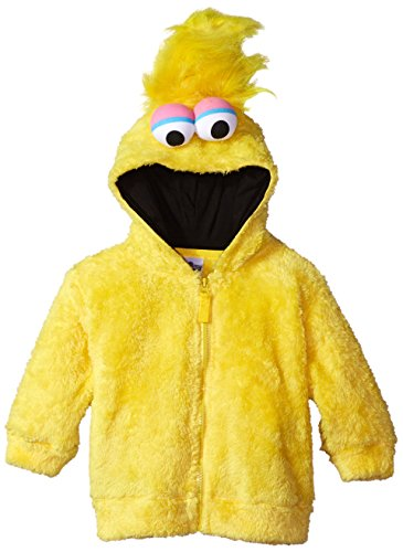 Sesame Street Big Bird Faux Fur Kids Fancy dress costume Hoodie (Big Costume Bird)