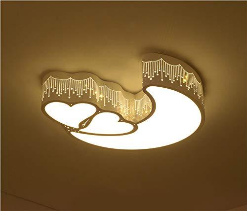 WenMing Enfants Luminaire de Plafond Meubles Mobilier Contemporain Moderne Simple LED Salle des Enfants Un en Forme de Coeur 24 W Stepless Gradation Télécommande Lampe de Chambre à Coucher
