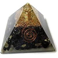 Schwarz Turmalin Edelstein Pyramide, Reiki Healing Chakra Pyramide, spirituelle Energetische Pyramide mit Bergkristall-Point... preisvergleich bei billige-tabletten.eu