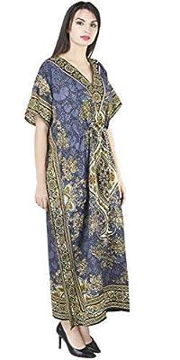 SKAVIJ Womens Kaftan Beachwear Cover Up Long Maxi Dress Caftan Nightgown