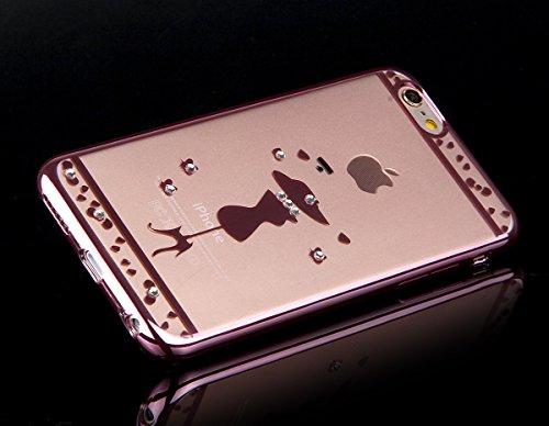 Apple iphone 6/6s (4.7 pouces) Coque en Soft Silicone TPU Transparent, Ekakashop Créatif Belle Conception de Série Fleur Flexible Souple Gel Housse Etui Cas de Protection pour iphone 6, Matériaux Galv Fille