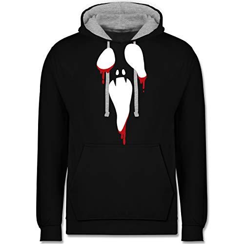 Shirtracer Halloween - Scream Halloween - M - Schwarz/Grau meliert - JH003 - Kontrast ()