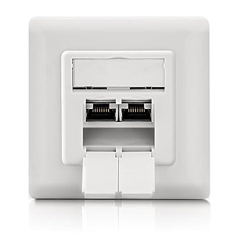 deleyCON prises réseau universelles Cat. 6 - 2x ports RJ45