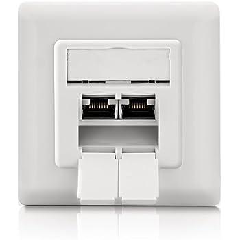 digitus dn 9005 n prise murale cat 6 blind 2 x rj45 informatique. Black Bedroom Furniture Sets. Home Design Ideas
