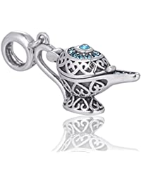 Abalorio de Aladdin de Disney, joyería de plata, regalo de hada para ella,