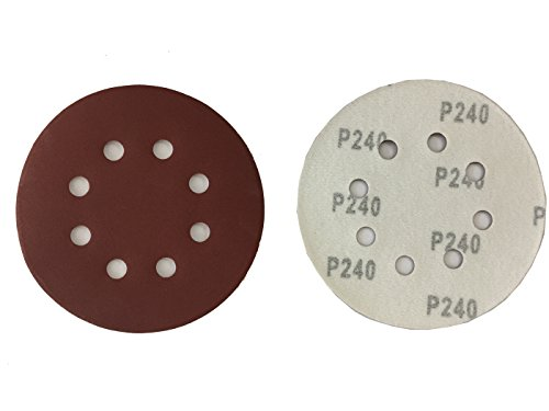 50 Klett-Schleifscheiben Ø 125 mm Körnung 240 für Exzenter-Schleifer 8 Loch