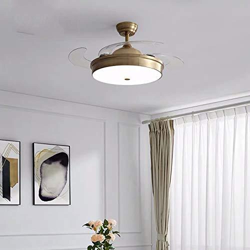 Luz de ventilador Restaurante Luz de ventilador de techo Sala de estar Dormitorio Iluminación nórdica...