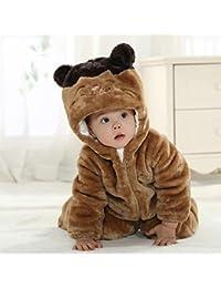 Vanies Mono de Bebe Nueva Chaqueta de Invierno Acolchada con Franela para Gatos, 80 cm