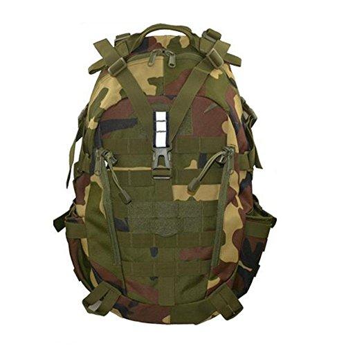 Zaino 35L Borsa tattica di camuffamento Sport Viaggio Escursioni Tempo libero Zainetto all'aperto , ArmyGreen jungle camouflage