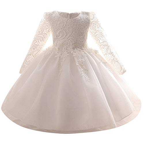 Mädchen Hochzeitskleid MEIbax Kleinkind Baby Langrm Prinzessin Kleid Partykleider Abendkleider | Weihnachten | Black Friday | - Black Friday Kostüm