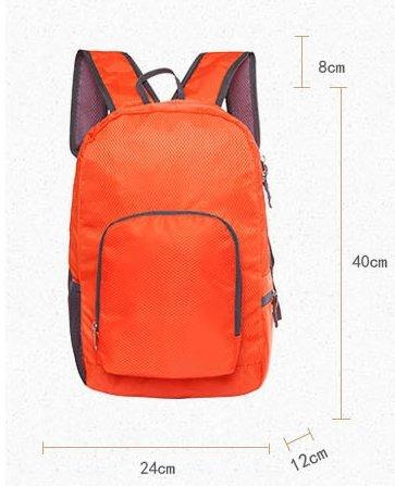 Dlflyb Outdoor Rucksack Super Licht Outdoor Rucksack Schultern Wasserdichte Tasche Falten orange