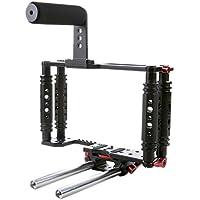 Kamerar TK-3 Cage de caméra pour vidéo DSLR avec système de tubes et poignée supérieure TK-T avec 115 possibilités de connexion Noir