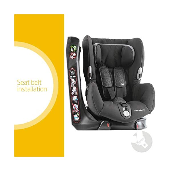 Maxi-Cosi Axiss Swiveling Toddler Car Seat, Extra Secure Fit, Reclining, 9 Months-4 Years, 9-18 kg, Triangle Black Maxi-Cosi Toddler car seat, suitable from 9 months to 4 years (9-18 kg) Swivels 90 degrees allows for front-on access to get your toddler in and out of the car more easily Maxi-Cosi Axiss car seat has eight comfortable recline positions 2