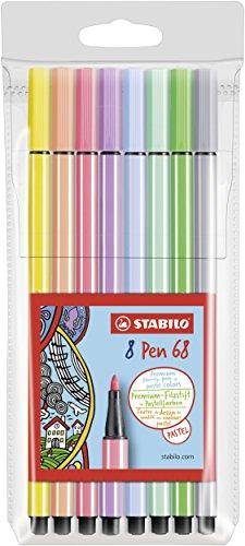 Preisvergleich Produktbild Premium-Filzstift - STABILO Pen 68-8er Pack - Pastellfarben