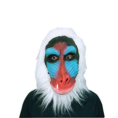 Süßes Paar Für Tanz Kostüm - HLXXX Süße Orang-Utan Maske Kopfbedeckung Kleidung Kreative Cosplay Halloween, Einheitsgrösse,White-OneSize