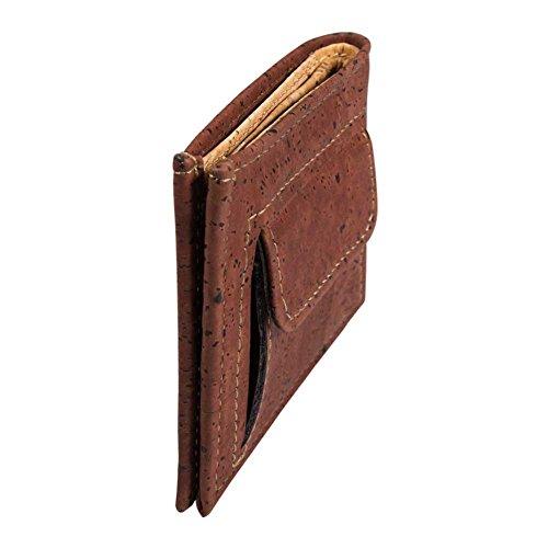 9a54de82c3 Vegan Portafogli Uomo Portamonete, Portafoglio Porta Moneta, Non Pelle di  Sughero Rosso
