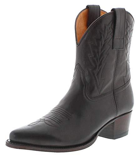Sendra Boots Damen Cowboy Stiefel 16367 Lederstiefel Westernstiefelette Dunkelbraun 39 EU