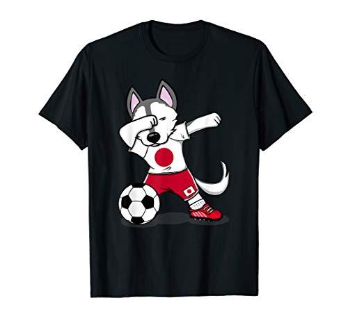 Husky Dabbing Japan Fußball Jersey 2019 Japanische Fußball T-Shirt