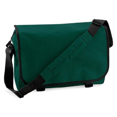 Shirtstown Messenger Bag, Umhängetasche, Schultertasche, Retro, Tasche, Farbe weiss dunkelgrün
