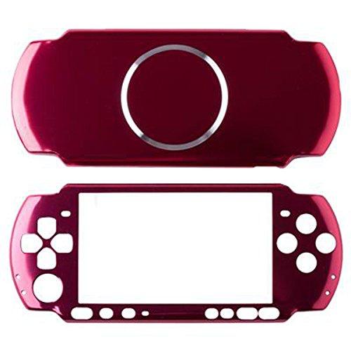 Vivi Audio Displayschutzfolie Travel Carry Aluminium Hard Cover Fall Shell für Sony PSP 3000Konsole (Rot)