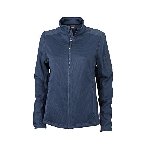 JAMES & NICHOLSON - gilet - veste tricot polaire - ouverture zippée - JN590 - Femme Bleu Marine