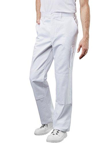 Preisvergleich Produktbild PIONIER WORKWEAR Herren Bundhose Cotton Pure in weiss (Art.-Nr. 9394) weiss,Größe 48