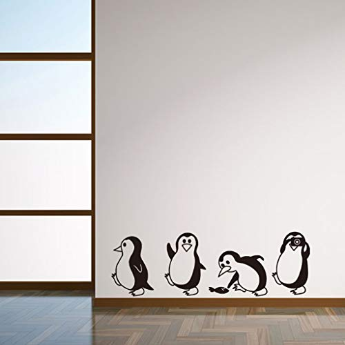 LIGEsayTOY DIY Abnehmbare Pinguin Wandaufkleber Dekorative Aufkleber Kinder Kindergarten Babyzimmer küche leuchtende Wasser eiskönigin Leon faultier Kitty Galaxy Wars uhrwerk Sternenhimmel -