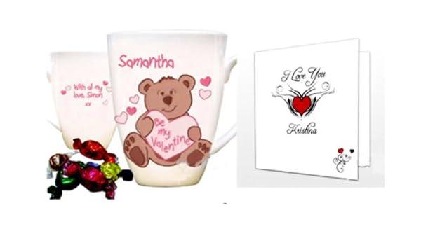 Cmp tazza personalizzata san valentino e carta regalo con