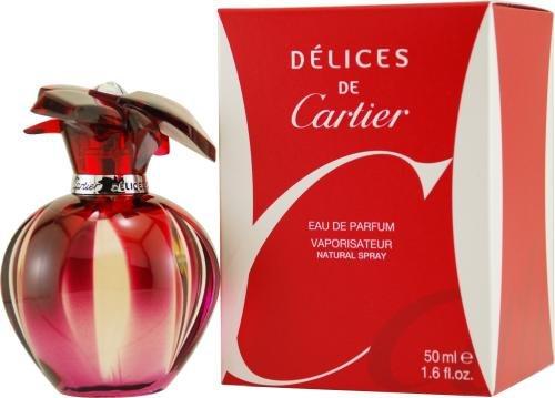 Cartier Delices de Cartier femme/woman, Eau de Parfum Spray-50ml - Pink Jasmine Eau De Toilette