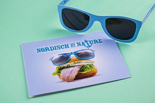 2er Set, Nordisch by Nature Geburtstagskarte mit Sonnenbrille für Nordlicht-er I Glückwunschkarte I Karte zum Geburtstag, Happy Birthday card, lustig, witzig, cool, SUN05