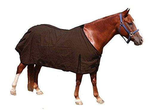 Derby Originals Premium 18Unze Leinwand Pferd Winter Decke mit Wolle Futter und Zwickel, 80-8008BR-84, Brown/Black Trim, 84