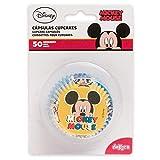 Mickey 339004 Caissettes Cupcakes avec Design Disney Mouse-50 Unités, Papier, Rouge, 5 x 5 x 3 cm