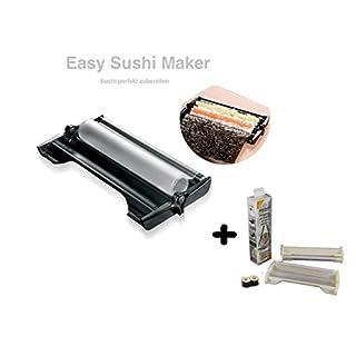 Easy Sushi Maker 2er SET Sushiroller Ø 3,5 cm schwarz + Easy Sushi Maker Ø 2,5 cm weiss Gratis
