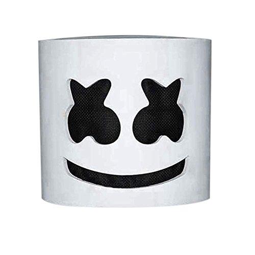 lzn LED leuchtet DJ maske MarshMello DJ Tiesto LED Vollkopf Helm Party Halloween Karneval Cosplay Kostüm Bar Musik Requisiten(Mit Licht / Ohne Licht)