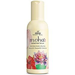 moha: Herbal Hair Serum – Makes hair manageable and gives every strand a silky shine with Hibiscus Oil, Flaxseed Oil and Water Lily (30ml)