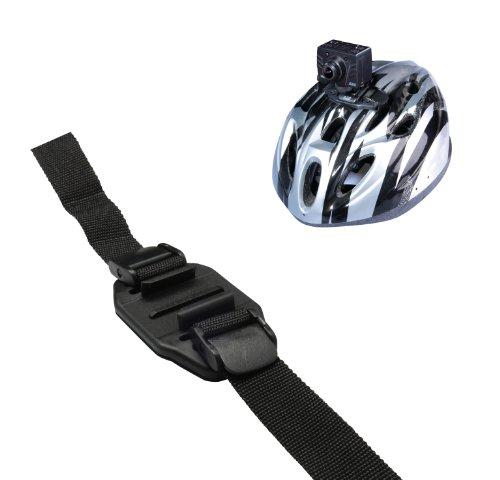 AEE Halterung Mount für Fahrradhelm Verstellbar Kompatibel mit AEE MagiCam Sports Action Kamera - Schwarz
