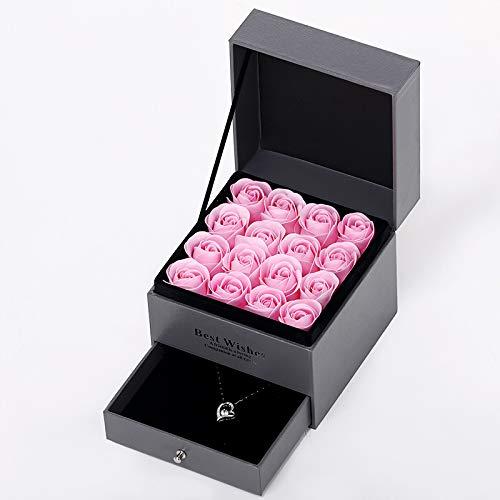 MZ Thanksgiving, Valentinstag 7 Seifenblumengeschenk Simulation Sonnenblume Zu Senden Freunde (Nicht Eine Halskette),Pink