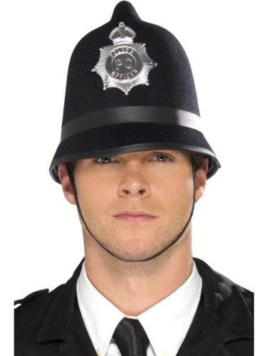 Karneval Kostüm Zubehör Polizei Helm mit Abzeichen Polizist Bobby