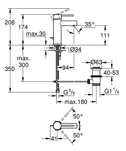Zoom IMG-2 grohe 32898001 miscelatore monocomando per