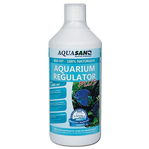 AQUASAN Bio-Fit Aquarium Regulator Plus (GRATIS Lieferung in DE - Fördert das biologische Gleichgewicht im Aquarium - Schnelle Förderung der schadstoffabbauenden Mikroorganismen), Inhalt:1 Liter