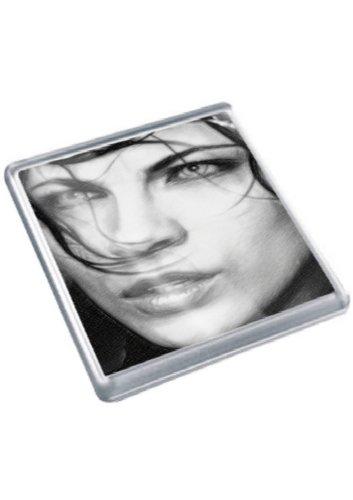 KATE BECKINSALE - Original Art Coaster #js004 (Kate Beschnitten)