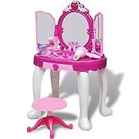 SOULONG Girls Dressing Table Set, Glamour 3-Mirror Princess Kids