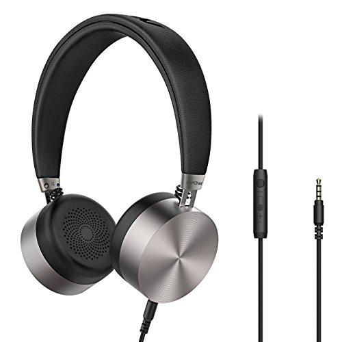 Mpow HC1 Auriculares Diadema con Cable, HIFI Sonido, Wired Headphones, Auriculares con Cable, Control en cable y Micrófono Incorporado, Carcasa de Metal para Ipad PC Android Teléfono Laptop
