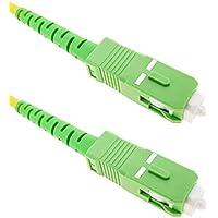 BeMatik - Cable de Fibra óptica SC/APC a SC/APC monomodo simplex 9/125 de 2 m