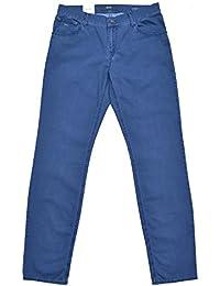 Brax Hose Modell: Chuck Iced Cotton Baumwolle Slim Fit Blau W33 L34