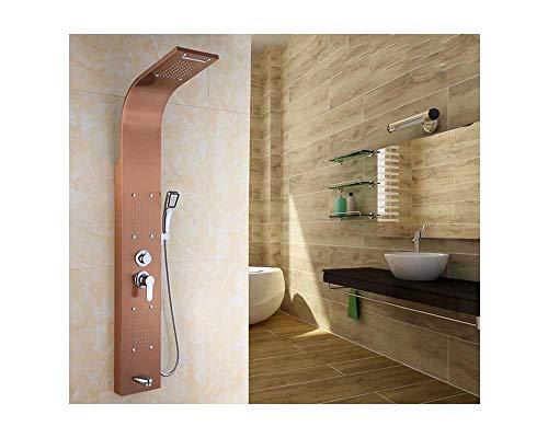 Regendusche Duschkopf Haushaltsduschen-Duschschirm des rostfreien Stahls des Haushalts 304 5 intelligenter, rosa