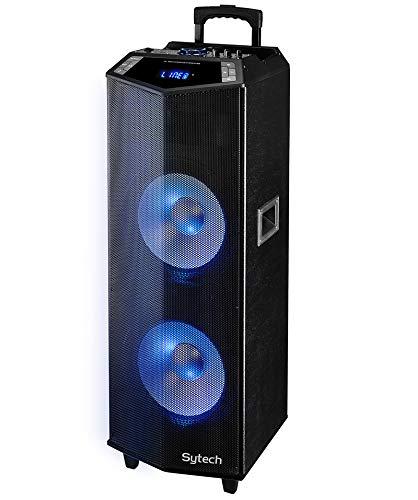 Sytech Altavoz Portátil Profesional Inalámbrico, Karaoke, 600W, Ilum