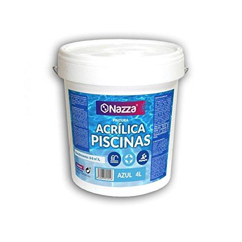 Pintura para Piscina Azul Acrílica Nazza | Pintura apta para permanecer sumergida en agua | 4 Litros