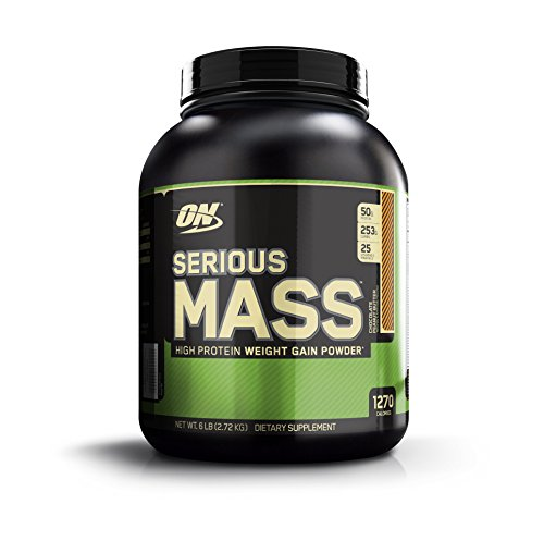 Optimum Nutrition (ON) Serious Mass - 6 lbs (Chocolate Peanut Butter)  available at amazon for Rs.2900